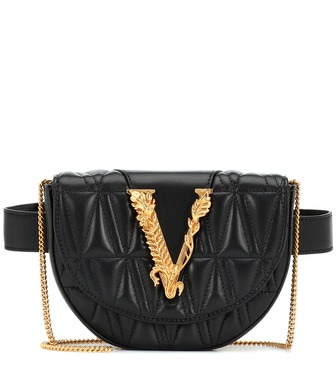 Versace - Virtus quilted-leather belt bag - mytheresa.com