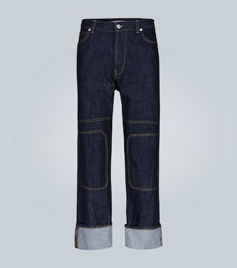 JW Anderson - Pantaloni in denim con patch - mytheresa.com