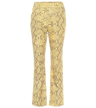 Common Leisure - High-rise straight leather pants - mytheresa.com