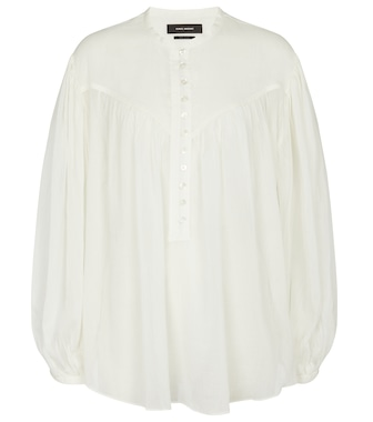 Isabel Marant - Kiledia cotton and silk blouse - mytheresa.com