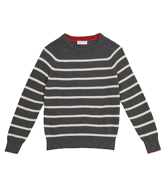 Brunello Cucinelli Kids - Striped cotton sweater - mytheresa.com