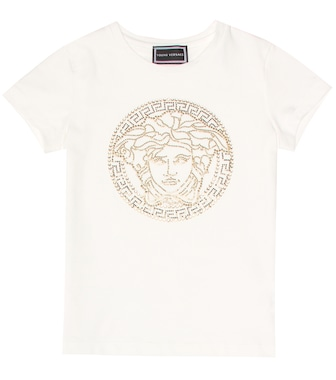 Young Versace - Embellished stretch-cotton T-shirt - mytheresa.com