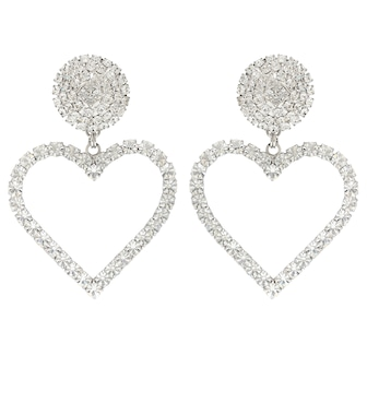 Alessandra Rich - Crystal-embellished earrings - mytheresa.com