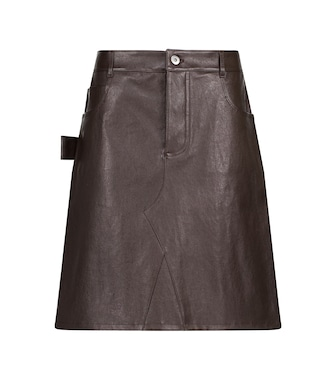 Bottega Veneta - Leather miniskirt - mytheresa.com