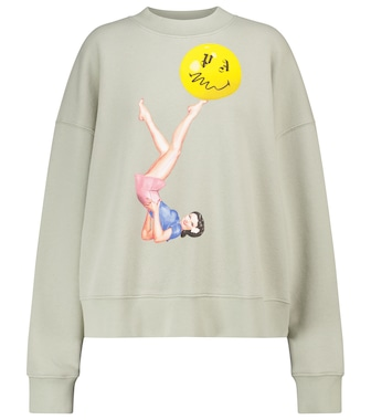 Palm Angels - Printed cotton jersey sweatshirt - mytheresa.com