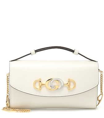 Gucci - Gucci Zumi Mini leather shoulder bag - mytheresa.com