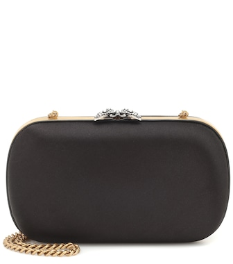 Gucci - Boxclutch Broadway aus Satin - mytheresa.com