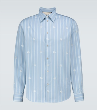 Gucci - Striped GG printed shirt - mytheresa.com