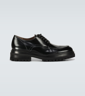 Gianvito Rossi - Exclusive to Mytheresa - Kirk leather derby shoes - mytheresa.com