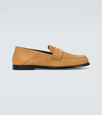 LOEWE - Slip-on suede loafers - mytheresa.com
