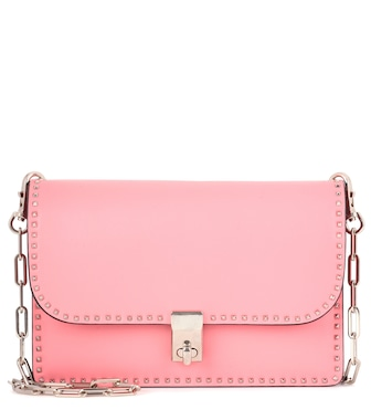 Valentino - Valentino Garavani leather shoulder bag - mytheresa.com