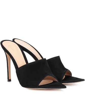 Gianvito Rossi - Alise suede sandals - mytheresa.com