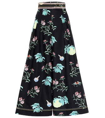 Peter Pilotto - Printed cotton wide-leg pants - mytheresa.com
