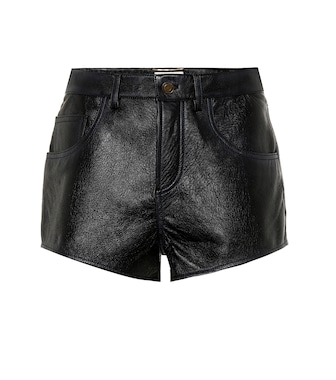 Saint Laurent - Shorts aus Leder - mytheresa.com