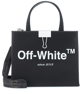 Off-White - Box Mini leather shoulder bag - mytheresa.com