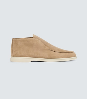 Loro Piana - Open Walk suede ankle boots - mytheresa.com