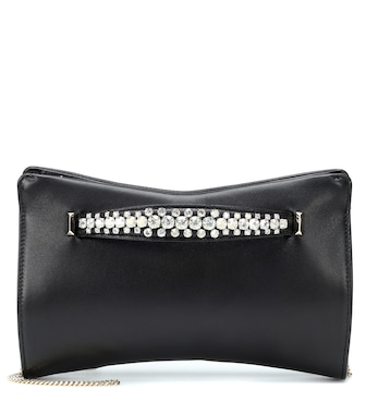 Jimmy Choo - Venus embellished leather clutch - mytheresa.com