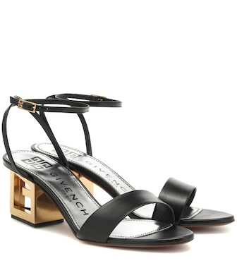 Givenchy - Triangle Leather sandals - mytheresa.com