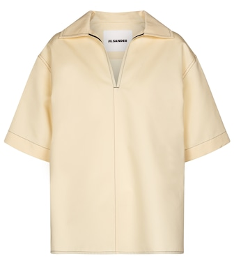 Jil Sander - Cotton and silk top - mytheresa.com