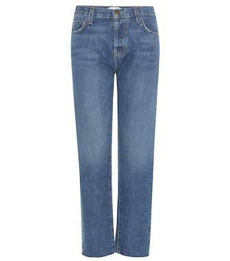 Current/Elliott - The Original Straight cropped mid-rise jeans - mytheresa.com