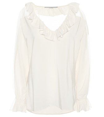 Stella McCartney - Top in seta con ruches - mytheresa.com