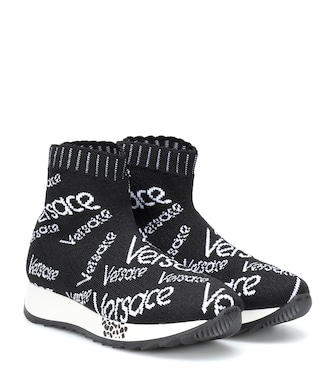 Young Versace - Knitted sock sneakers - mytheresa.com