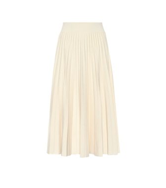 Polo Ralph Lauren - Pleated wool knit midi skirt - mytheresa.com