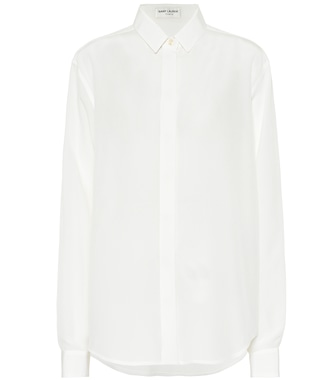 Saint Laurent - Silk crêpe-de-chine blouse - mytheresa.com