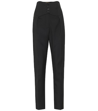 Saint Laurent - Wool-twill slim pants - mytheresa.com