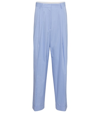 Dries Van Noten - High-rise wide-leg cotton pants - mytheresa.com