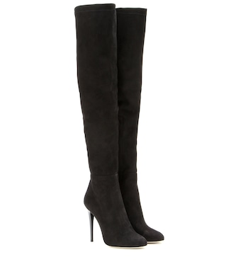 Jimmy Choo - Turner 110 suede over-the-knee boots - mytheresa.com