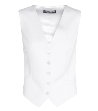 Dolce & Gabbana - Virgin wool and silk waistcoat - mytheresa.com