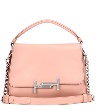 Tod's - Schultertasche Double T Small aus Leder - mytheresa.com