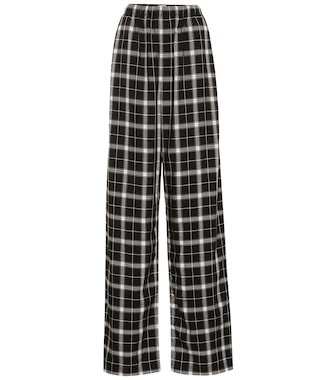 Balenciaga - Checked high-rise straight pants - mytheresa.com