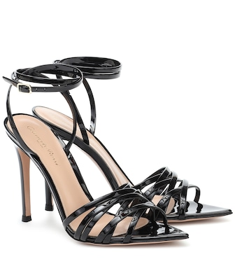 Gianvito Rossi - Lita 105 patent-leather sandals - mytheresa.com
