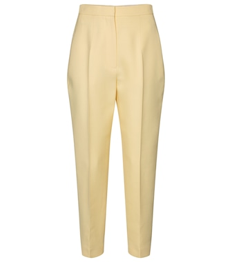Alexander McQueen - High-rise wool-blend slim pants - mytheresa.com