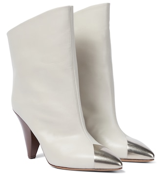 Isabel Marant - Lapee leather ankle boots - mytheresa.com