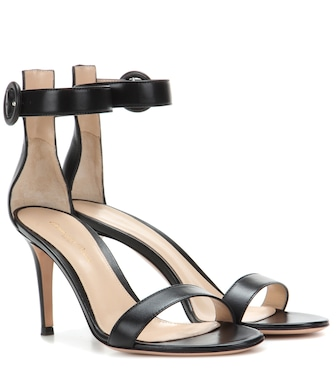 Gianvito Rossi - Portofino 85 leather sandals - mytheresa.com