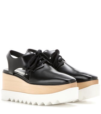 Stella McCartney - Plateau-Derbys Elyse mit Cut-outs - mytheresa.com