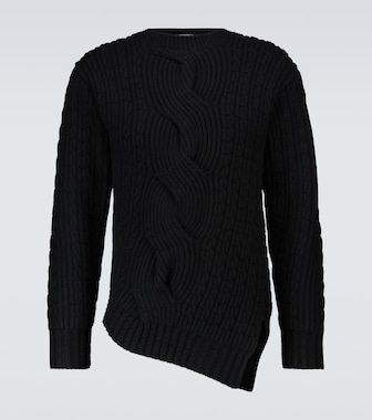 Alexander McQueen - Asymmetric wool and cashmere sweater - mytheresa.com