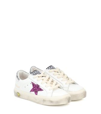Golden Goose Kids - May leather sneakers - mytheresa.com