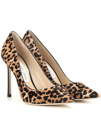 Jimmy Choo - Romy 100 printed calf hair pumps - mytheresa.com