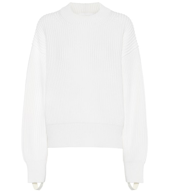 Helmut Lang - Wool and cotton sweater - mytheresa.com