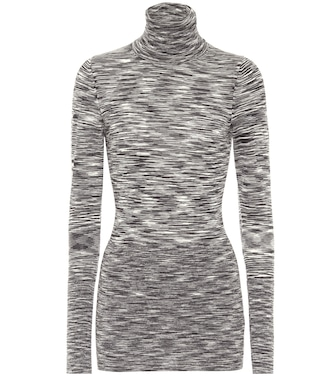 Joseph - Printed wool turtleneck top - mytheresa.com
