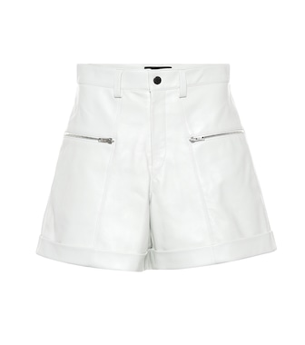 Isabel Marant - Cedar high-rise leather shorts - mytheresa.com