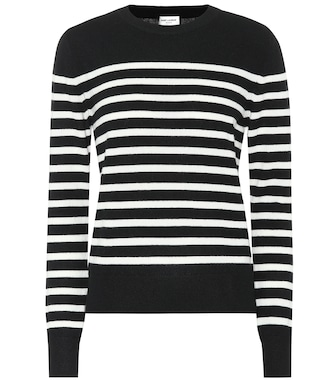 Saint Laurent - Striped cashmere sweater - mytheresa.com