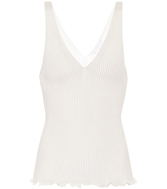 Chloé - Ribbed-knit stretch-cotton tank top - mytheresa.com
