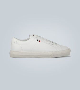 Moncler - New Monaco leather sneakers - mytheresa.com