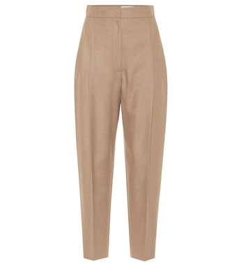 Alexander McQueen - High-rise camel-hair pants - mytheresa.com