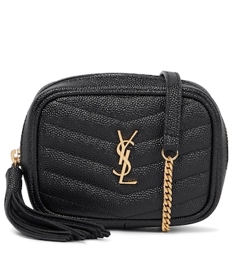 Saint Laurent - Lou Micro leather crossbody bag - mytheresa.com